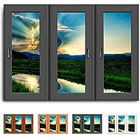 Quadro su tela - finestra dispiacerà - stagno prato Fotoleinwand24/AA0437, Legno, nero, 150 x 100 cm