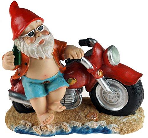 Biker garden gnomes for sale