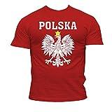 Camiseta De Fútbol Polonia Equipo Seguidor - algodón, Rojo, 100% algodón, Hombre, X-Large