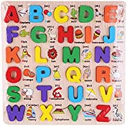 English ABC Alphabet Wooden Board Jigsaw Puzzle Letters Game Educational Toy