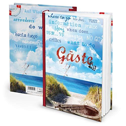 Maritmes Livre d'or bleu pour location de vacances, pension Hotel dans DIN A4 HARDCOVER 164 pages également pour les invités internationales Ostsee Nordsee Sylt Norderney, etc.