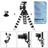 Fantaseal® Robust Octopus Mini Tripod Gorillapod 3-in-1 DSLR Camera + GoPro Action Cam + Lens Cloth Flexible Tripod Mount Outdoor Tripod Table Desk Tripod Travel Portable Tripod Stand w/ Quick Release Plate + Ball Head for Nikon Canon Pentax Sony Olympus Panasonics etc DSLR Camera / Camcorder + GoPro Hero 5/ 4/ 3+/ 3/ Session SONY HDR AS-10 15 20 30 50 100 200 AZ-1 FDR X1000VR Garmin Virb XE SJCAM SJ4000 SJ4000 SJ5000 Xiaomi Yi Xiaomi Yi 4K DBPOWER QUMOX ICEFOX +etc Action Cam + Wildlife Camera
