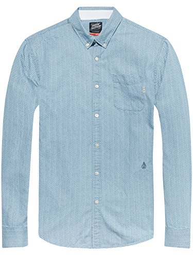 Scotch & Soda Herren Freizeithemd Ams Blauw Allover Printed Button Down Shirt Mehrfarbig (Combo D 20)