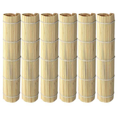 MGE - Esterilla de Bamboo para Sushi - Set de 6 Esteras