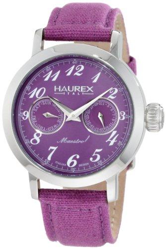 Haurex Italy - 6A343DP1 - Montre Femme - Quartz - Analogique - Bracelet Textile violet