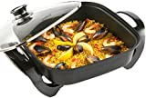 VonShef 1500W Square Multi Cooker With Glass Lid Non-Stick Surface, 2 Year Free Warranty and Cool Touch Handles