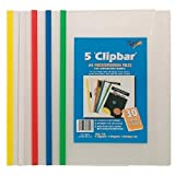 Tiger A4 Molletta Bar Fascicolo (30 fogli capacità) Documenti Cartellina Di Presentazione Colore Confezione di 5