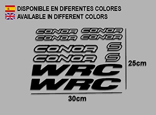 Ecoshirt D0-6NC0-EV0D Pegatinas Connor WRC F120 Vinilo Adesivi Decal Aufkleber Клей MTB Stickers Bike, Negro
