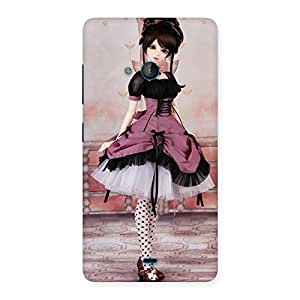 Stylish Cute Dancing Girl Multicolor Back Case Cover for Lumia 540