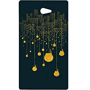 Casotec City Light Pattern Design Hard Back Case Cover for Sony Xperia M2