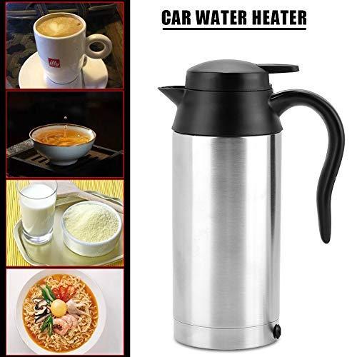 24 V Wasserkocher ,24V Car Kettle Tragbare elektrische Tasse 750ml 24V Reise Auto LKW Wasserkocher Warmwasserbereiter-Flasche für das Tee Kaffee Trinken,mit Zigarettenanzünderstecker, Sicherung (Tee Für Warmwasserbereiter)