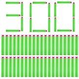 300Pcs Fléchettes Ventouse - Foxom 7.2*1.3cm Standard Balle en Mosse Darts pour Nerf...