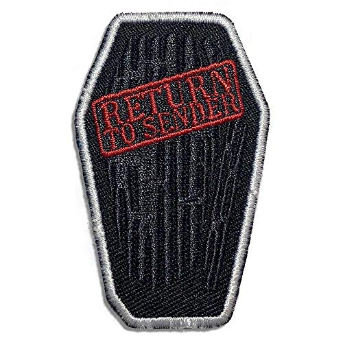 Wasted Days Aufnäher zum Aufbügeln oder Aufnähen, Motiv: Return to Sender Sarg