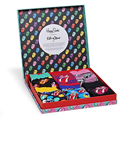 Happy Socks - Rolling Stone Collab, Gr.- 36-40 EU, Mehrfarbig (6er Pack)