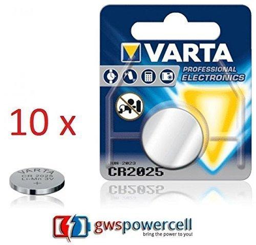 Varta VCR2025 10x Lithium Knopfzelle Einzelblister - Lithium-batterie 3v 2025