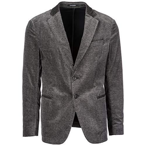 Emporio Armani Herren Herrenjacke Jacke Blazer Grau EU 50 (UK 40) 11G28S11686 - Armani Blazer