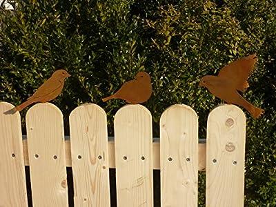 Albert Hechinger Edelrost Vogel Spatzen im 3er-Set von Albert Hechinger auf Du und dein Garten