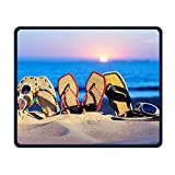 Smooth Mouse Pad Beach Flip Flop Mobile Gaming MousePad Work Mouse Pad Office Pad