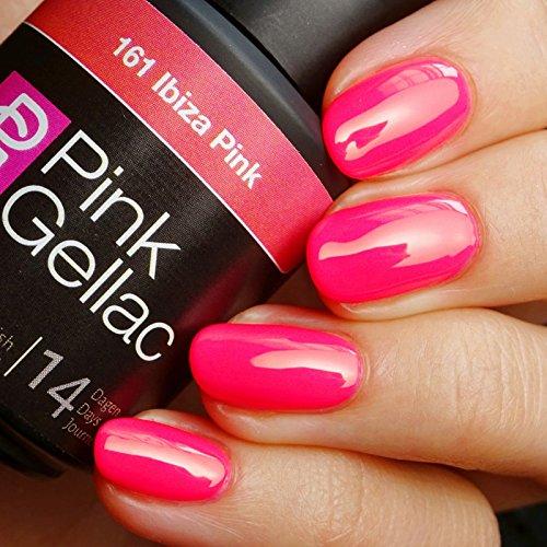 Pink Gellac 161 Ibiza Pink UV Nagellack. Professionelle Gel Nagellack shellac für mindestens 14 Tage perfekt glänzende Nägel