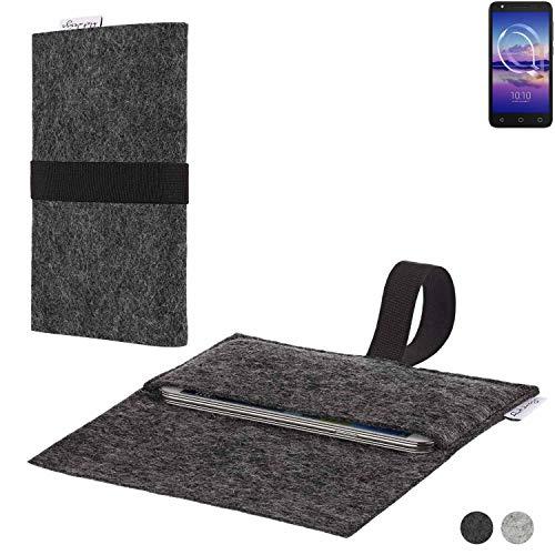 flat.design Handy Hülle Aveiro für Alcatel U5 HD Single SIM passgenaue Filz Tasche Case Sleeve Made in Germany