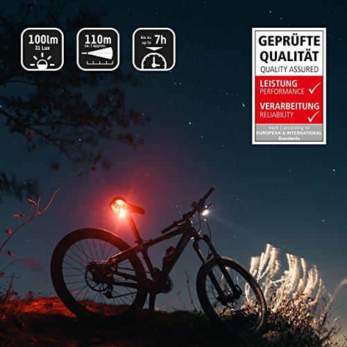 ANSMANN LiteRider StVZO Fahrradlicht Beleuchtungsset/Fahrradlampen/Hochwertiges LED Lichtzubehör für Fahrrad oder Mountainbike mit Vorder- & Rücklicht & 2 Halterungen/Spritzwasserfest - 4