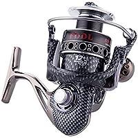 VORCOOL Carrete de pesca spinning 12 + 1 BB Light y Ultra Smooth Potente carrete de pesca de spinning de aluminio Relación de engranaje 5.2: 1 para agua salada o de agua dulce