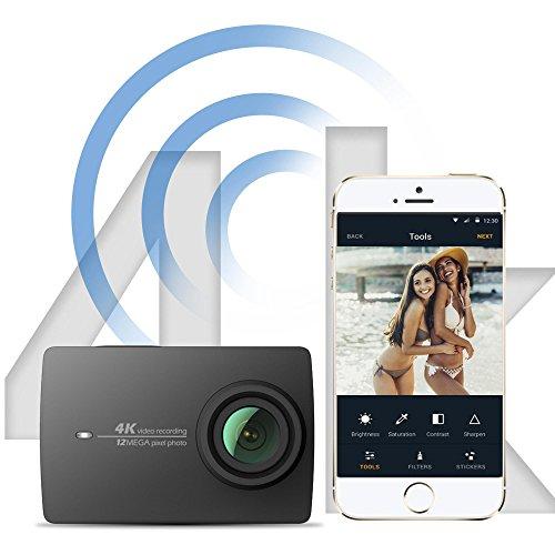 YI 4K Wi-Fi Cámara Deportiva 12MP Action Camera,5 GHz WI-FI,1400mAh 120 minutos 4K/30 Grabación y 2.19