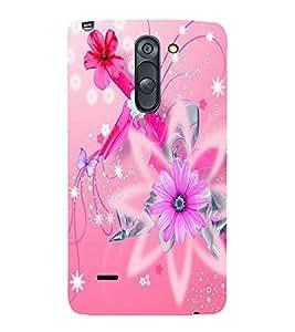 printtech Kitty Mushroom Back Case Cover for LG G3 Stylus::LG G3 Stylus D690N::LG G3 Stylus D690