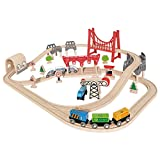 Hape E3712 Railway Spielzeug-Eisenbahnset mit Doppelschleife