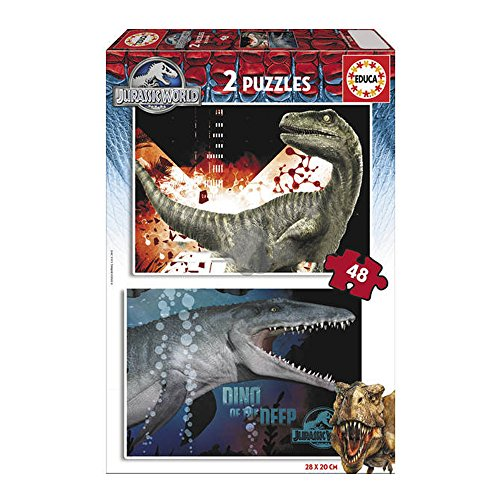 Park 48 (Educa 16339 - Puzzle - Jurassic Park, 2 x 48-Teilig)