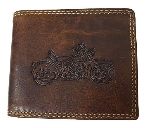 Echt Büffel-Leder Geldbeutel Motorrad Harley Exquisit von Einkaufszauber - Herren Für Davidson Von Geldbörse Harley