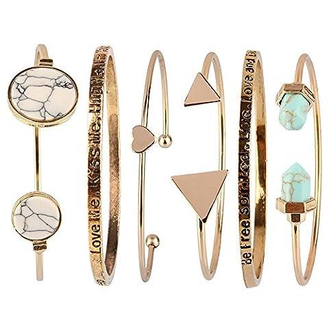 Femmes Accessoires Bijoux - Beauty7 Kits de Bracelet Manchette Chaines Boheme