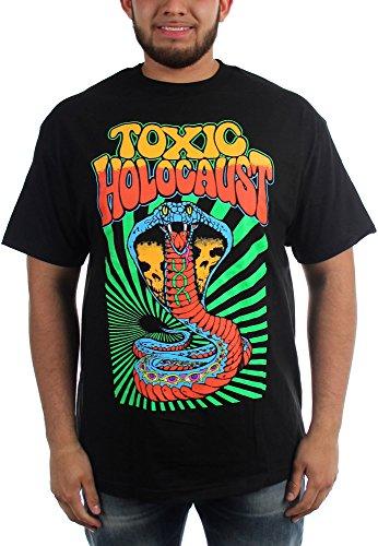 Toxic Holocaust Hola-Maglietta da uomo, motivo Cobra Nero  nero