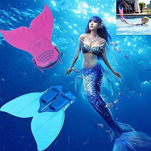 Flosse Schwimmflossen Meerjungfrau Flossen Monolithische Flossen für Kinder oder Teenager Schwimmen...