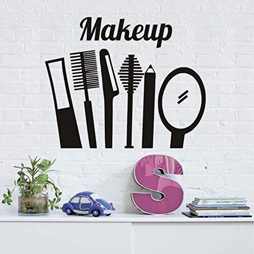 (Dalxsh Make Up Kamm Spiegel Wandaufkleber Küche Decor Vinyl Abnehmbare Wasserdichte Dekoration Wandtattoo 55x44 cm)