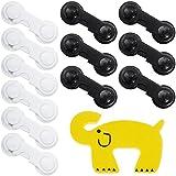 Rovtop 12 Pack CE REACH Genehmigt Kindersicherung Schrank Schublade Sicherheitsschloss Stark Klebrige senden gelbe Elefant Türclip