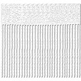 Bestlivings Fadenvorhang 90x240 Fadengardine Insektenschutz Raumteiler Auswahl: Weiß - Reinweiß