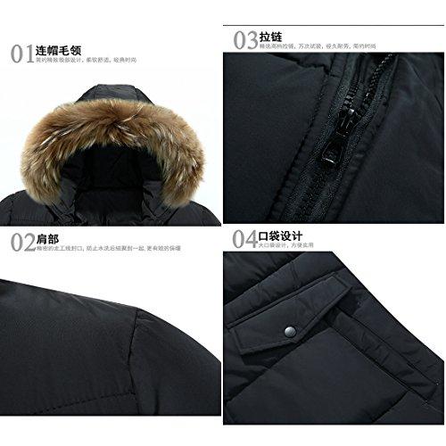 Abbigliamento uomo cotone uomini Coat Giacca invernale uomo indumenti di cotone _ lunga lunga gioventù rivestire  Abbigliamento Uomo cotone Inverno stile di rivestimento di cotone Black