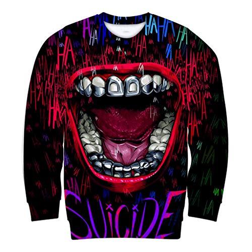 TEBAISE Pullover Herren Crewneck Sweatshirt 2019 Herbst Winter Unisex Print Langarm Sweater Rundkragen Hoodie für Damen und Herren - Strand Crewneck Sweatshirt