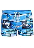 Herren Badehose Männer Schwimmhose Surfhose Wassersport kurze Hose Blau L