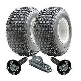 ATV Anhängerkit - Quad Anhänger - Wanda Räder + Stahl Press Nabe / Stub + Alko Hitch 200kg 18x9.50-8