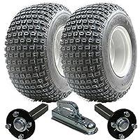 Kit rimorchio ATV - Quad rimorchio - Wanda ruote + Steel Press hub / stub (Pneumatici Del Trattore Atv)