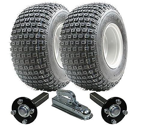 Kit de remorque ATV - Quad trailer - Wanda wheels + Steel Press hub / stub + Alko hitch 200kg 18x9.50-8