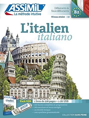 L'italien pack USB (livre +1Clé Usb)