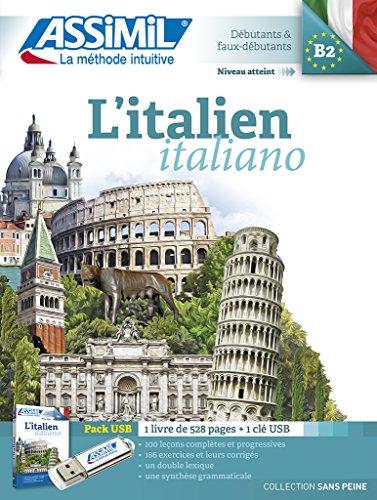 L'italien : Pack USB : 1 livre (1Clé Usb)