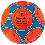 Lionstrike Leichter Lederfußball, Größe 4, Orange
