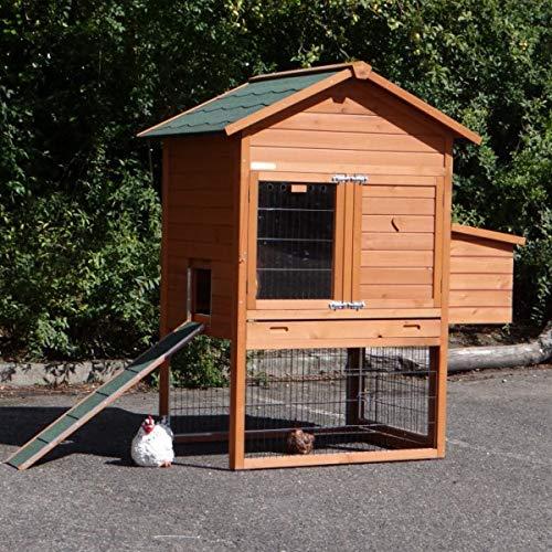 Animalhouseshop.de Hühnerstall Prestige Medium mit Legenest 132x90x150cm