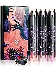 ROPALIA 12Pcs/Lot Rouge à Lèvres Nude Rouge à Lèvres Crayon à Lèvres Imperméable (A)