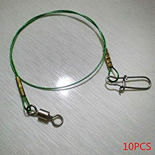 Kongnijiwa 10Pcs 30cm Copper Fishing Leader Wire Fish Tackle Rig