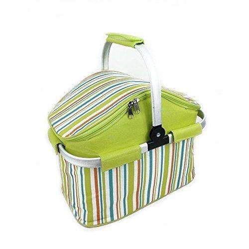 Picnic cooler bag,Stoga Familie Kühltasche Keep Cool / Warm bis zu 4 Stunden, Sommer Streifen